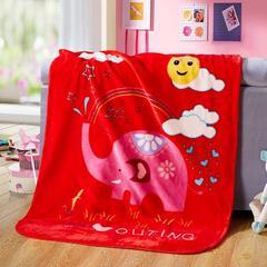 京宇毯业 儿童云毯中号用数据包上传需自改标题及属性 110cm*135cm 彩虹大象