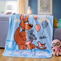 京宇毯业 儿童云毯中号用数据包上传需自改标题及属性 110cm*135cm 袋鼠天蓝