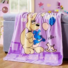 京宇毯业 儿童云毯中号用数据包上传需自改标题及属性 110cm*135cm 袋鼠紫色