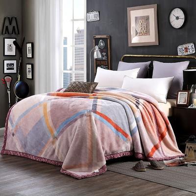 超柔拉舍尔毛毯 经典款双层毛毯 150*200 5斤 非凡格调