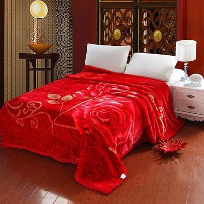 超柔拉舍尔毛毯 经典款双层毛毯 150*200 5斤 欢天喜地