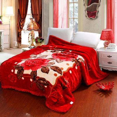 超柔拉舍尔毛毯 经典款双层毛毯 150*200 5斤 天赐良缘