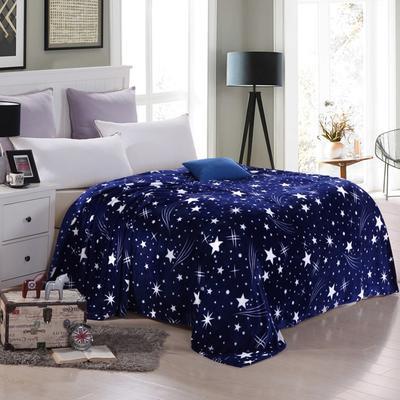 200克法莱绒毯 加厚珊瑚绒毛毯 120*200 璀璨星空