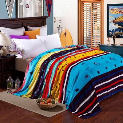 京宇毯业 200克法莱绒毯 加厚珊瑚绒毛毯 120*200 魔术先生