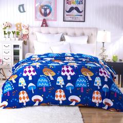 佳单针纺 200克水晶绒保暖四件套羊羔绒贝贝绒加厚法莱绒毛毯 120cmX200cm 森林蘑菇