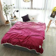 2018新款-法莱绒色织阿格莱亚毯 150*200 保加利亚玫瑰粉