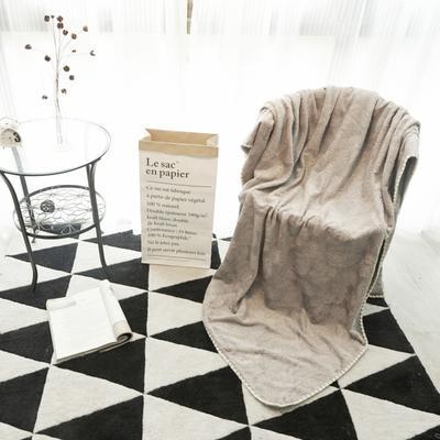 2019新款珍珠毯 100*140 木炭灰