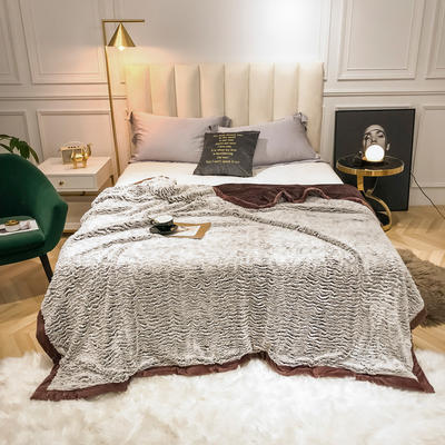2019新款银狐绒被套毛毯两用毯 150*210cm 咖啡