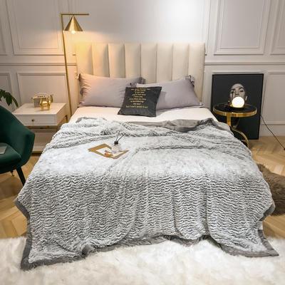 2019新款银狐绒被套毛毯两用毯 150*210cm 银灰