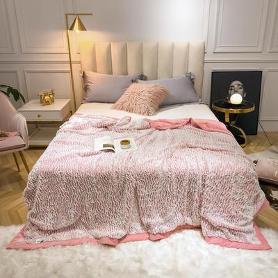 2019新款银狐绒被套毛毯两用毯 150*210cm 玉色