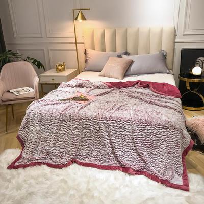 2019新款银狐绒被套毛毯两用毯 150*210cm 枣红
