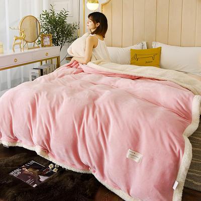 2020羊羔绒被套(两用毯) 180x220cm3.24斤 湘妃玉