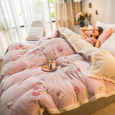 2019新款贝贝绒被套毯子毛毯 150*210cm 樱桃粉