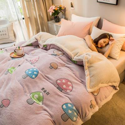 2019新款贝贝绒被套毯子毛毯 150*210cm 五彩蘑菇