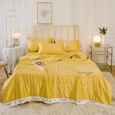 2020新款水洗真丝轻奢刺绣系列—夏被 150x200cm 黄色
