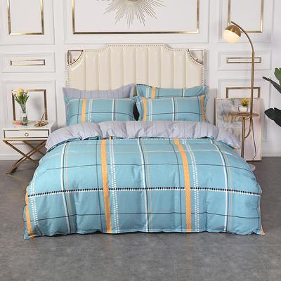 2020新款全棉印花单品被套 180x220cm 格林威尔-蓝