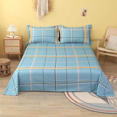 2020新款全棉印花单品床单 160cmx230cm 格林威尔-蓝
