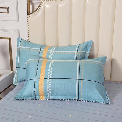 2020新款全棉印花单品枕套 48cmX74cm/对 格林威尔-蓝