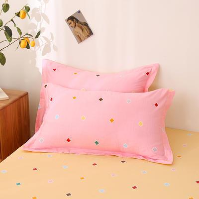 2020新款全棉印花单品枕套 48cmX74cm/对 米洛-粉