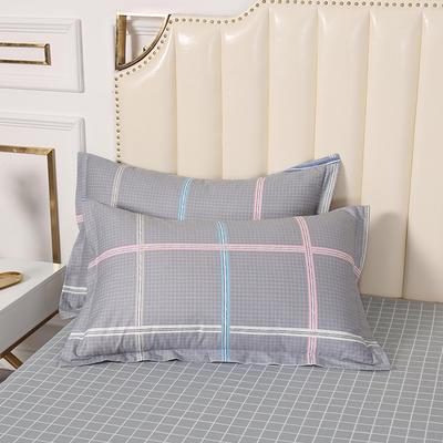 2020新款全棉印花单品枕套 48cmX74cm/对 暖风-灰