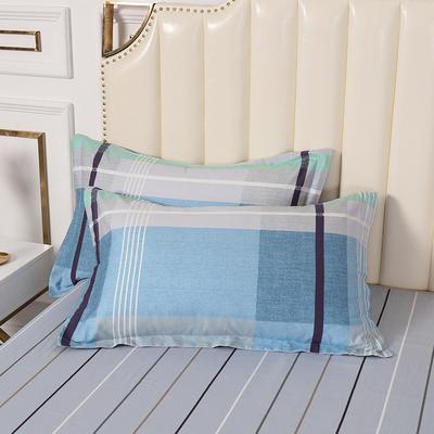 2020新款全棉印花单品枕套 48cmX74cm/对 如歌-蓝