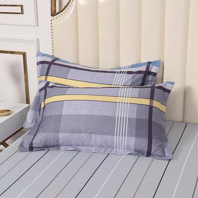 2020新款全棉印花单品枕套 48cmX74cm/对 如歌-紫
