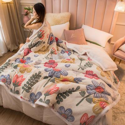 2020新款牛奶绒被套兼毛毯轻奢两用毯 180cmx220cm 浪漫生活