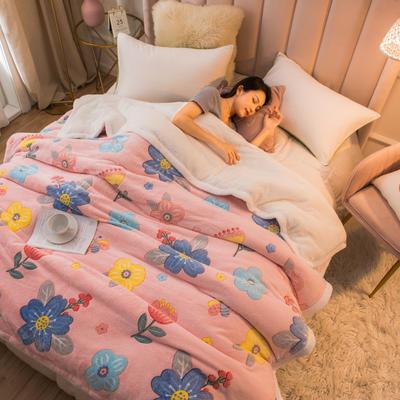 2020新款贝贝绒被套毯子毛毯 180*220cm 粉色佳人