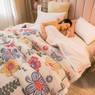 2020新款贝贝绒被套毯子毛毯 180*220cm 浪漫生活