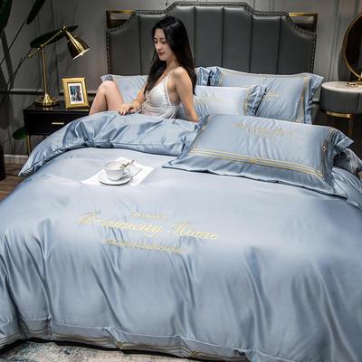 2021新款水洗真丝刺绣四件套—贝蒂金 1.8m床单款四件套 海青