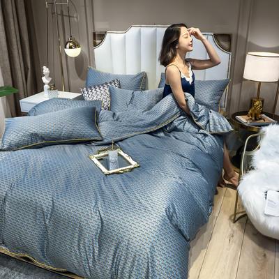 2020新款天丝绸四件套 1.5m床单款 艺术格林