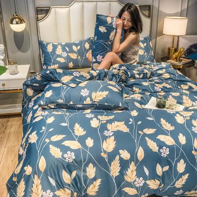 2020新款天丝绸四件套 1.5m床单款 羽毛情深