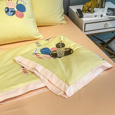 2020新款天丝绸夏被四件套 150x200cm夏被 创意花卉