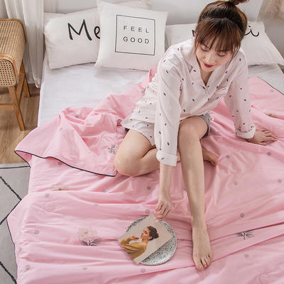 2020新款60支新疆棉花夏被 150x200cm 康乃馨-粉