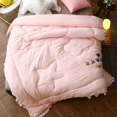 忆梦思家纺  超柔水洗棉 150x200cm 粉色
