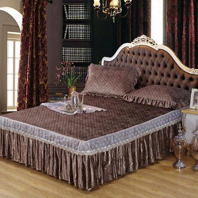 雅祥家纺   欧式蕾丝夹棉单品床裙 150cmx200cm 费列罗