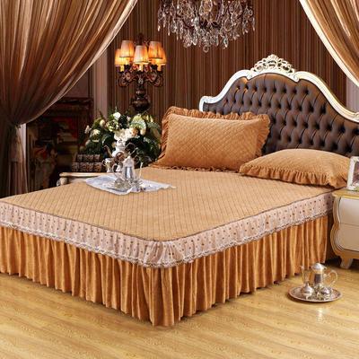 雅祥家纺   欧式蕾丝夹棉单品床裙 150cmx200cm 流金溢彩