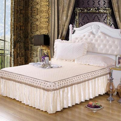 雅祥家纺   欧式蕾丝夹棉单品床裙 150cmx200cm 水晶之恋