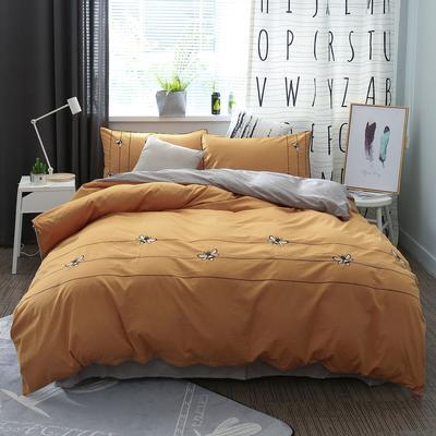 绣花工艺款四件套 1.8m(6英尺)床 暗香