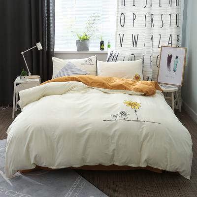 绣花工艺款四件套 1.8m(6英尺)床 慢时光