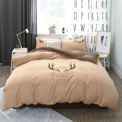绣花工艺款四件套 1.8m(6英尺)床 一鹿天堂