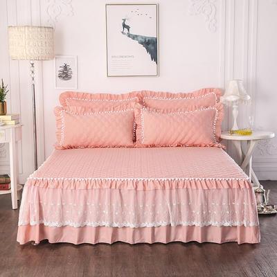 2018新款磨毛床裙三件套-马卡龙系列 1.5m(三件套) 玉玲珑