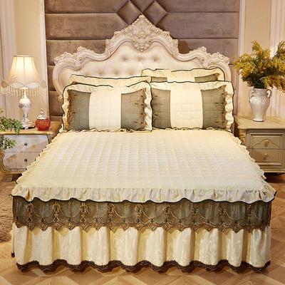 2018新款天鹅绒夹棉床裙 枕套/对48*74cm 暖光
