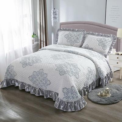 2020新款北欧风针织棉床盖三件套 230x245cm三件套 半世浮华