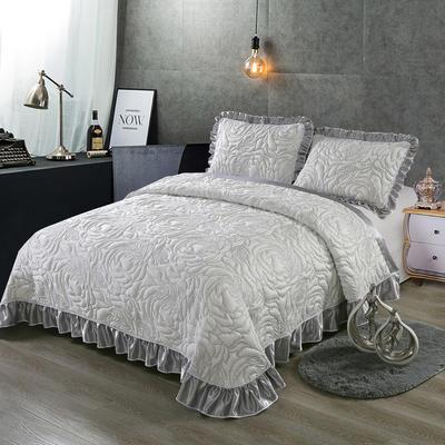 2020新款北欧风针织棉床盖三件套 230x245cm三件套 华美典韵