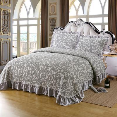 2020新款北欧风针织棉床盖三件套 230x245cm三件套 塞外牧歌