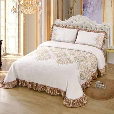 2020新款北欧风针织棉床盖三件套 230x245cm三件套 赛洛华庭