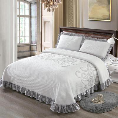 2020新款北欧风针织棉床盖三件套 230x245cm三件套 馨香迷恋