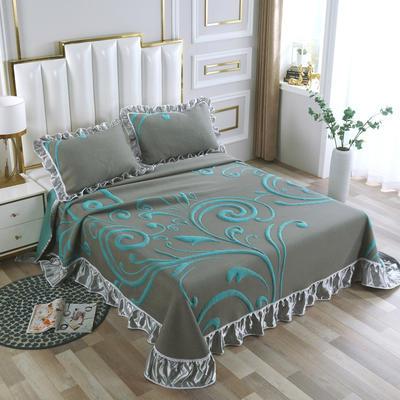 2020新款北欧风针织棉床盖三件套 230x245cm三件套 安德里亚