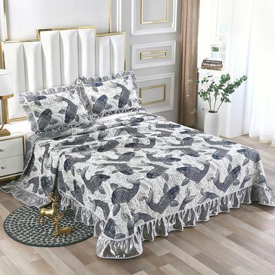 2020新款北欧风针织棉床盖三件套 230x245cm三件套 爱尔兰